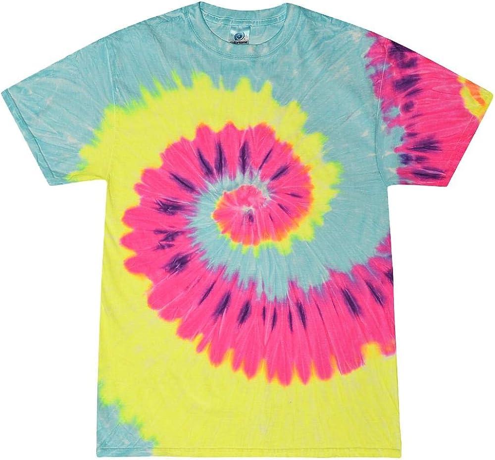 Femme Colortone Rainbow Tie Dye Top /à manches courtes T-shirt