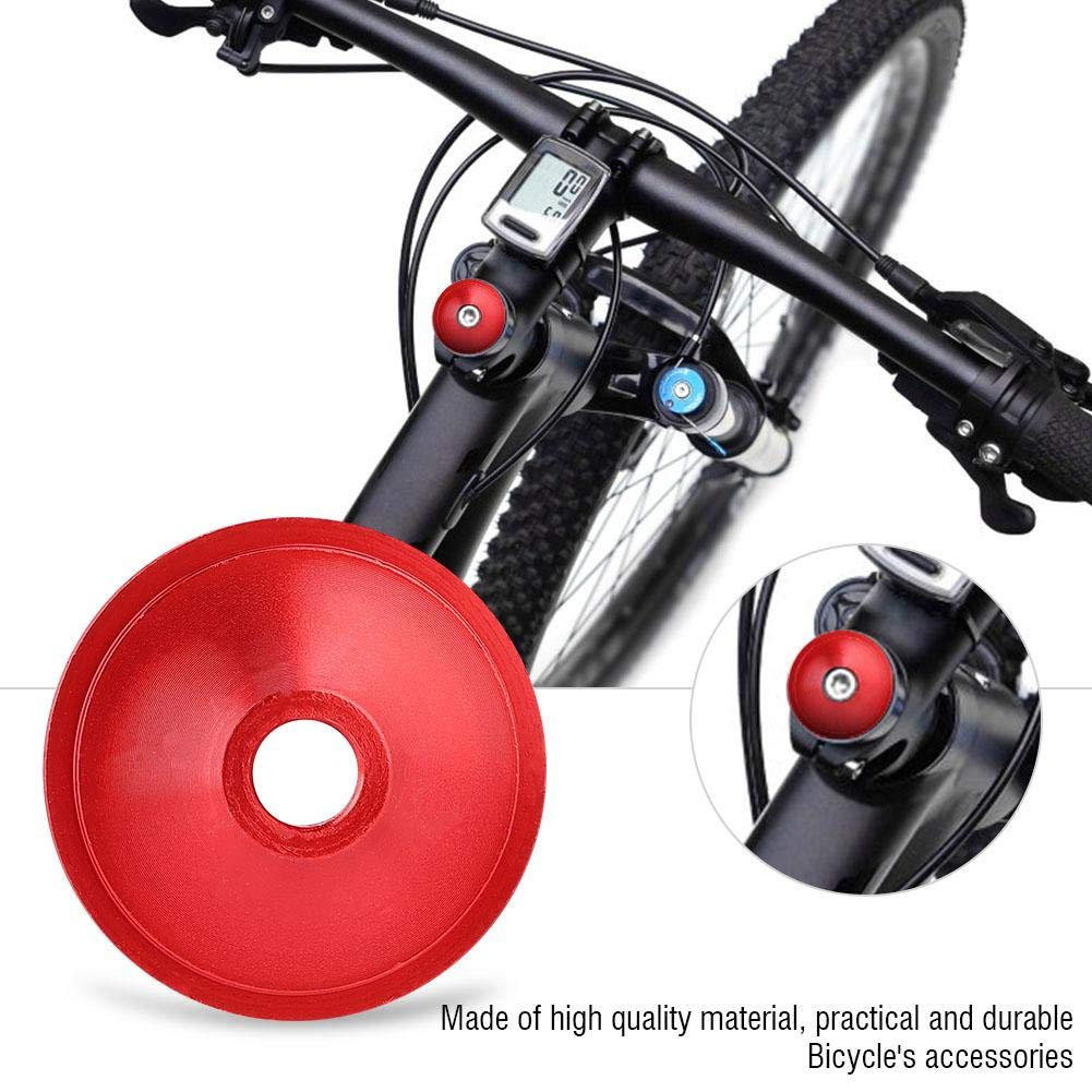 VGEBY1 Bike Top Cap Cover Cycling Stem Headset Cap 4 Colors Aluminum Alloy Fork Tube Cover for Road Mountain Bike