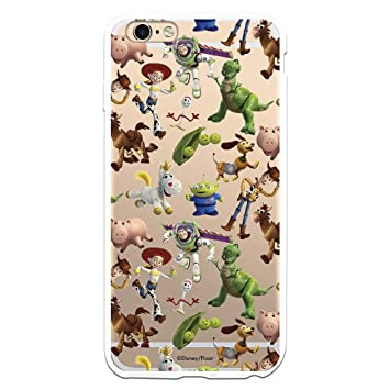 Funda para iPhone 6 Plus - 6S Plus de Toy Story. Carcasa con Las Siluetas de los Personajes de Toy Story, una Funda con Licencia Oficial de Disney ...