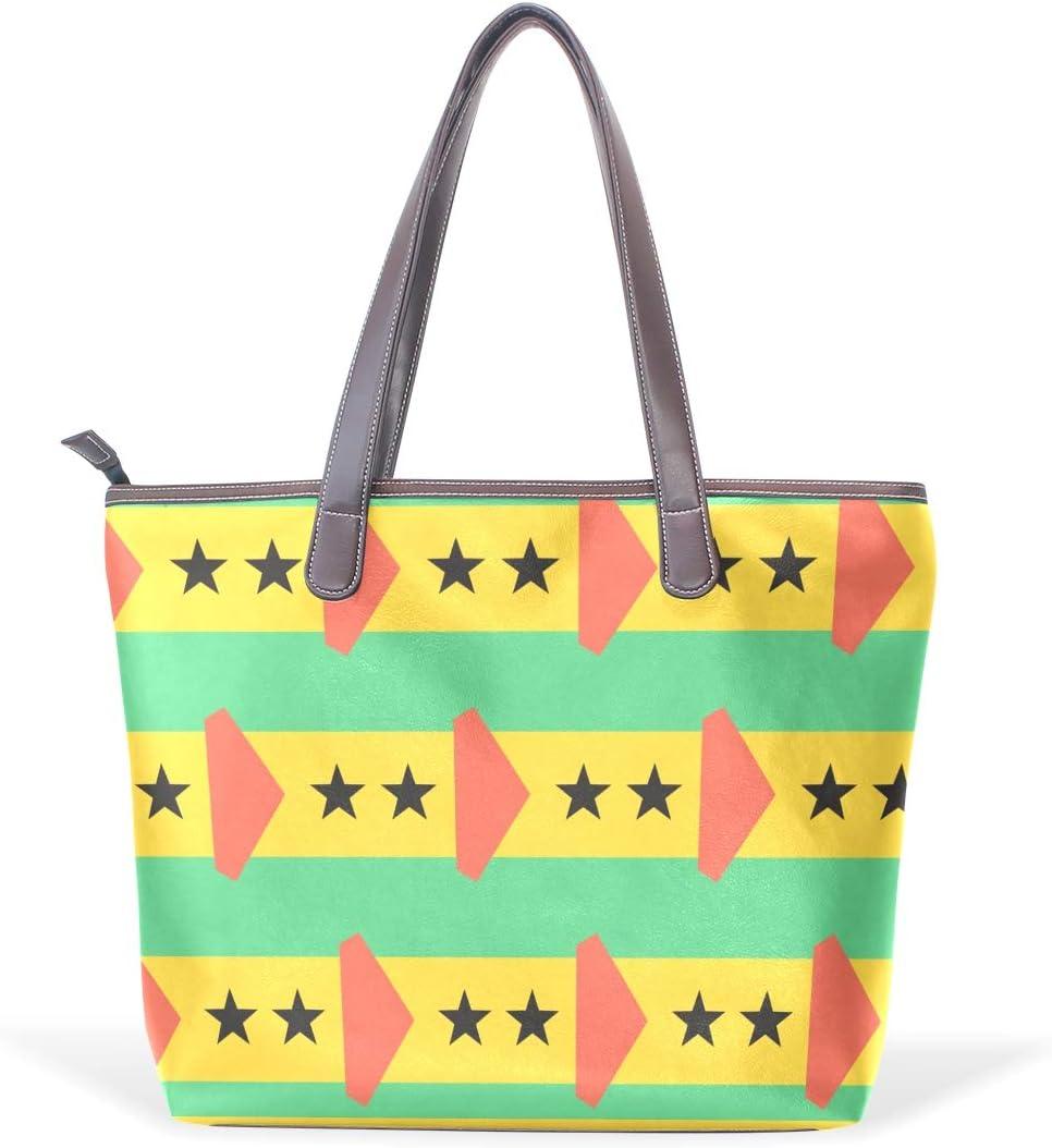 Sao Tome And Principe Flag Womens Fashion Large Tote Ladies Handbag Shoulder Bag