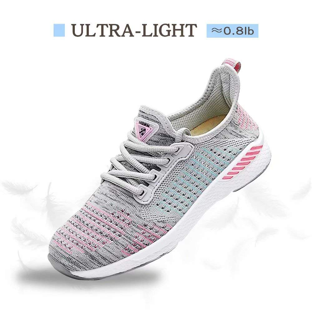 VISIONREAST Women Knit Running Shoes Mesh Breathable Fashion Sneakers Non-Slip Athletic Walking Sport Shoes Lightweight Tennis Gym Shoes
