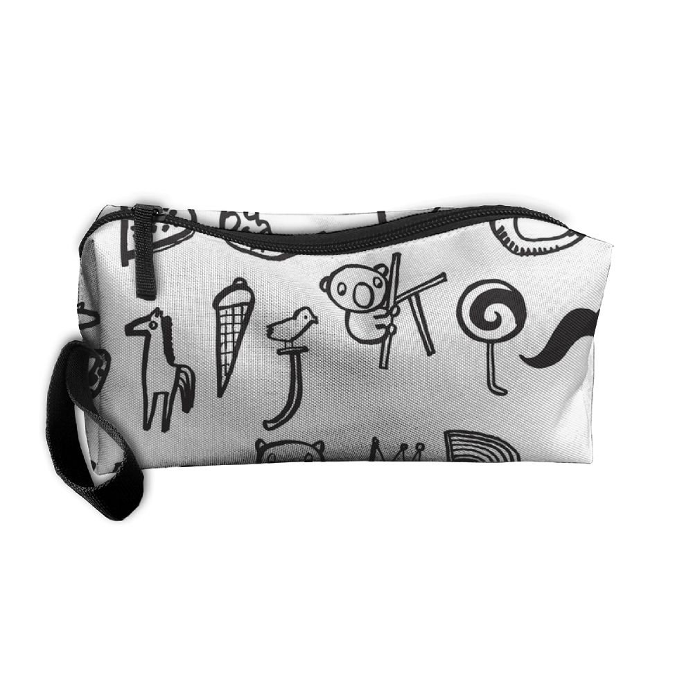 on sale Vvdfedsee Animal Alphabet Calligraphy Multifunction Handle Toiletry  Bag Portable Buggy Bag Travel Small Makeup 967c375b9b