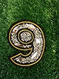 Number Six 6/ Nine 9 Iron On Embroidered Motif Applique Glitter Sequin Decoration Patches DIY Sew on for Jeans bag clothing by Indy Patch