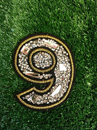 Number Six 6/ Nine 9 Iron On Embroidered Motif Applique Glitter Sequin Decoration Patches DIY Sew on for Jeans bag clothing by Indy Patch by Indy Patch