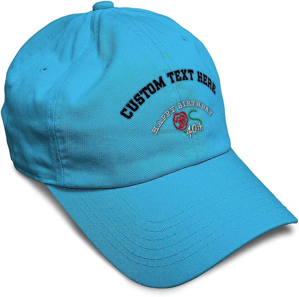 Custom Soft Baseball Cap 40Th Happy Birthday Embroidery Dad Hats for Men /& Women