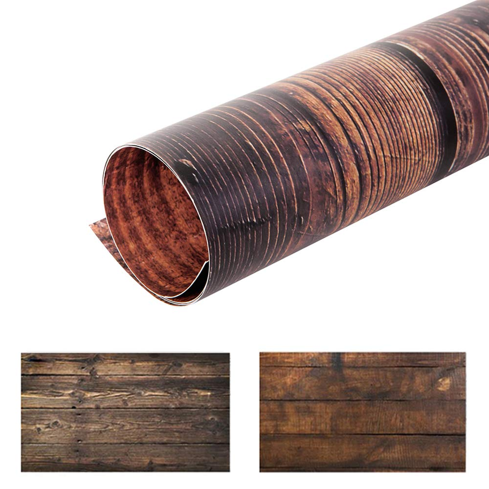 Selens 22x35Inch 2-in-1 Food Photography Wooden Background 4pcs Paper for Photographers, Foodies, Gourmet Bloggers, Cosmetic Sellers, Online Stores Product Photography, Life Photos and More by Selens (Image #7)