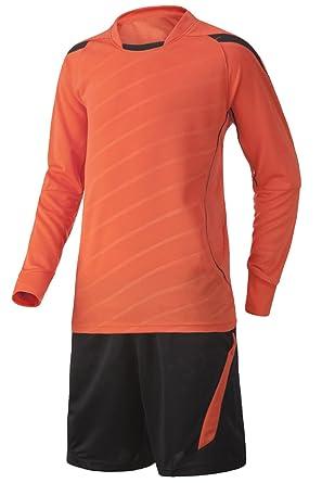 0a29e45444a KINDOYO Football Goalkeeper Long-Sleeve Soccer Jersey,Men & Boys Football  Kit (Orange