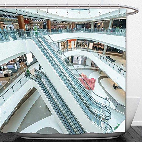 Beshowere Shower Curtain interior of modern shopping mall - Minneapolis Shopping Mall