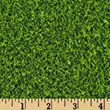 Robert Kaufman Kaufman Sports Life Grass Turf Grass Fabric By The Yard