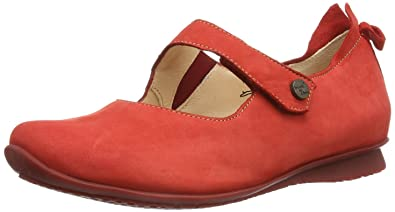 Damen Ballerinas Rot rot 37 Think