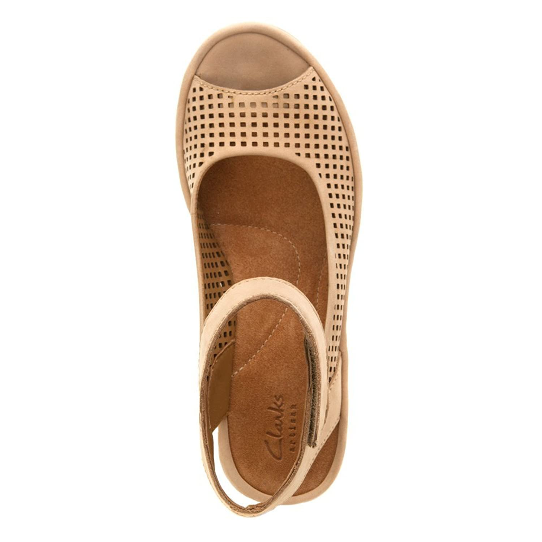 Amazon.com | Clarks Women's Clarene Prima Tan Nubuck Sandal 9 D - Wide |  Sandals