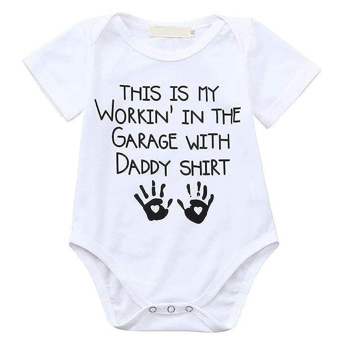 Infant Baby Boys Girls Bodysuit Letters Romper Jumpsuit Outfits Clothes 0-18M US