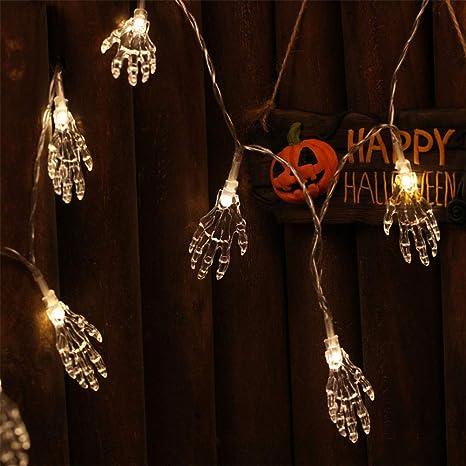 Lanlan Décoration Halloween Intérieur/extérieur, 1,2 M 10 LED Veilleuse  Lampe Chapelet