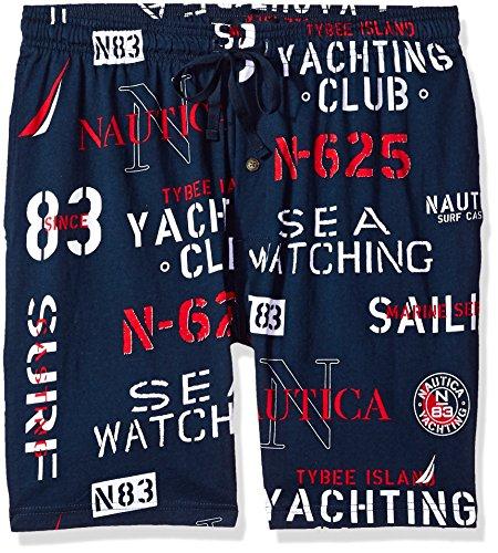 Nautica Men's Comfort Space Dye Contrast Tee, Navy/Blue, Large by Nautica