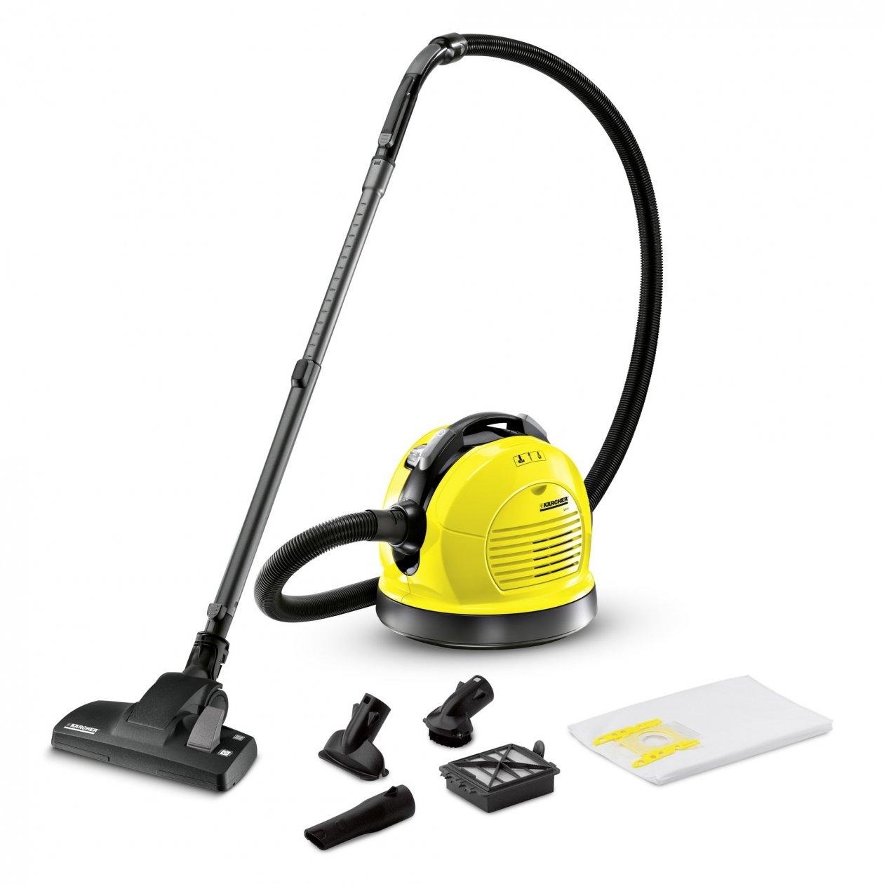 silencieux et hypoallerg/énique maniable coloris jaune-noir pivotant sur 306/° filtre haute performance K/ärcher Aspirateur tra/îneau VC 6 avec sac