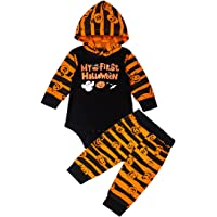 Baby Boys Pumpkin Outfit My First Halloween Pants Set with Hat