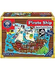 """Orchard Toys Piratfartyg-golv pussel""""Piratskepp"""" 100 stycken"""