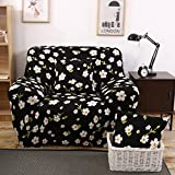 """Hotniu Printed Sofa Slipcovers for 3 Cushion Couch Sectional Seat Covers(Loveseat for 57""""-72"""", Pattern #12)"""