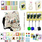 Katia Instant Camera Accessories Bundles Set for Fujifilm Instax Mini 8/8+ with Case White/ Photo Albums/ Close Up Lens/ Filters/ Border Stickers/ Frame/ Cleaning Cloth/ Pen/ Photo Holder (Owl +)