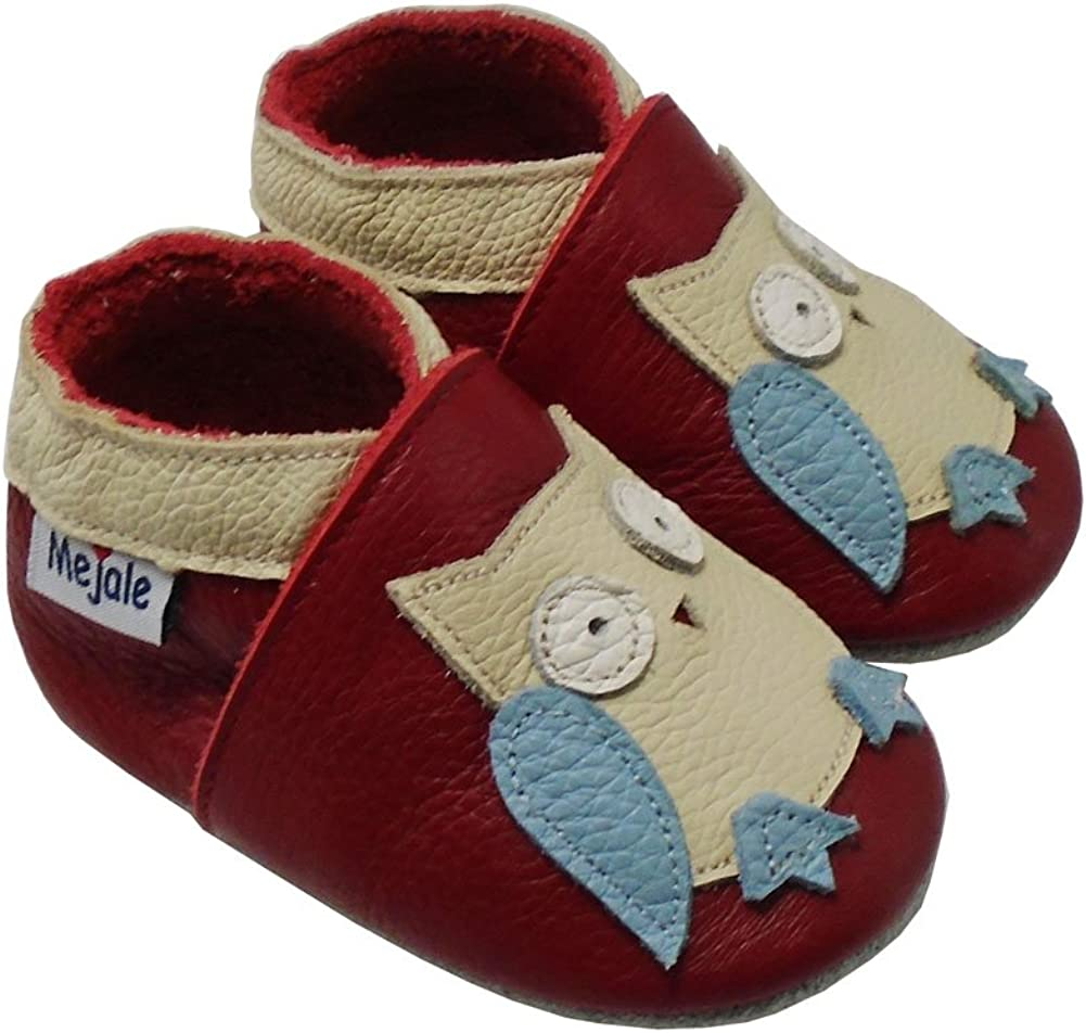 Mejale Baby Shoes 100/% Leather Toddler Infant Slippers Cartoon Moccasins Red,
