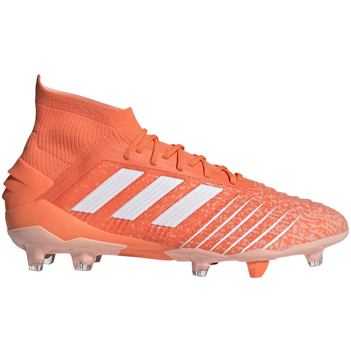 adidas Predator 19.1 FG Cleat - Unisex Soccer Hi/Res Coral/White/Pink by adidas