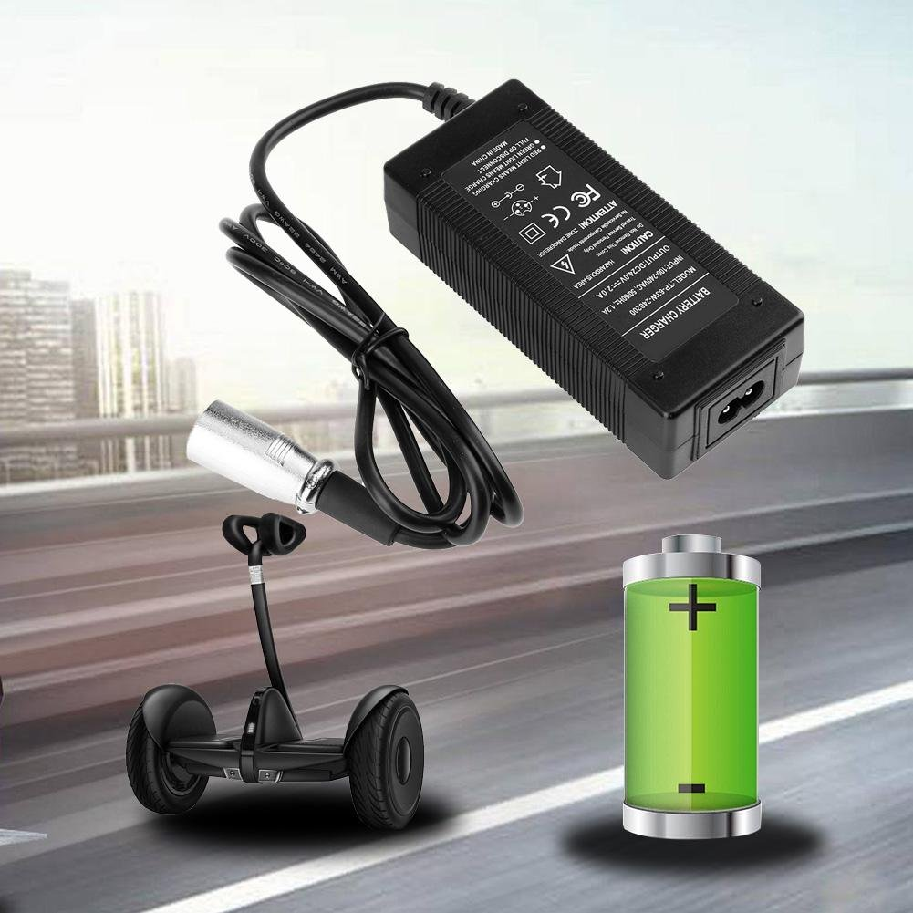 Cargador para silla de ruedas eléctrico de 24 V 2 A para scooter de golf: Amazon.es: Informática