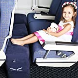 Inflatable Travel Footrest, Leg Rest Travel Pillow - Kids' Bed to Lay Down Flat on Flights (blue)