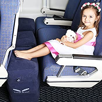 inflatable travel footrest for airplanes foot and leg rest travel pillow kids bed