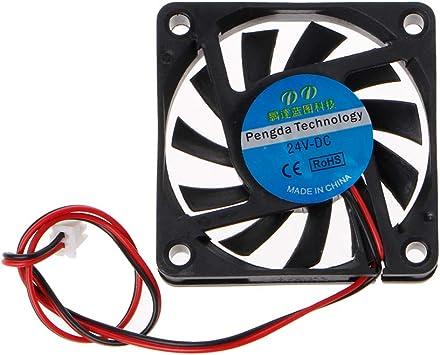 Yintiod 6010 - Ventilador para PC (24 V CC, 2 Pines, 60 x 60 x 10 mm)