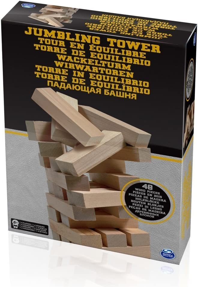 Spin Master SPINMASTER 6033149 Madera jumbling Torre: Amazon.es: Juguetes y juegos