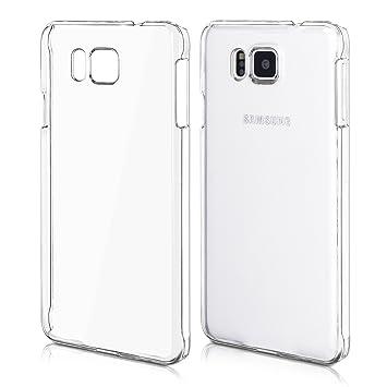 kwmobile Funda compatible con Samsung Galaxy Alpha - Carcasa para móvil - Protector [trasero] en [transparente]