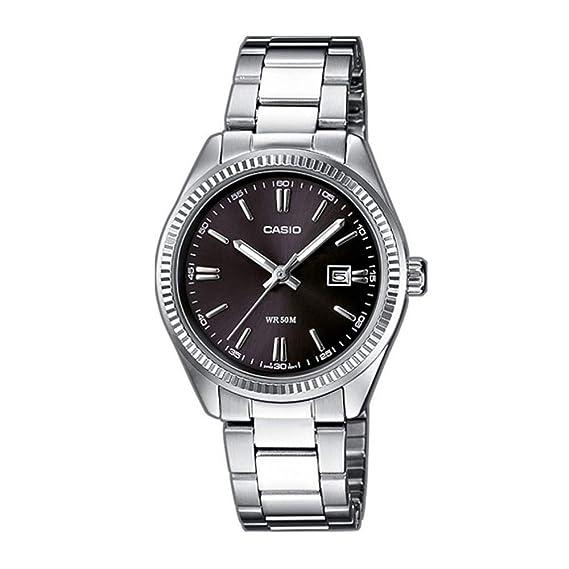 0eec02ab604d Casio Reloj Analógico para Mujer de Cuarzo con Correa en Acero Inoxidable  LTP-1302PD-1A1VEF  Amazon.es  Relojes