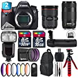 Canon EOS 6D DSLR Camera + Canon EF 24-70mm 2.8L II USM Lens + Canon EF 70-300mm IS II Nano USM Lens + Pro Flash + Battery Grip + 6PC Graduated Color Filer Set + 2yr Warranty - International Version