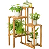 JQWJHJ Solid Wood Flower Stand Balcony Multi-layer Floor Plant Stand