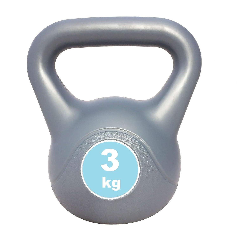 Vinyl Kettlebell 2x 3kg kettle bells 3kg Pair