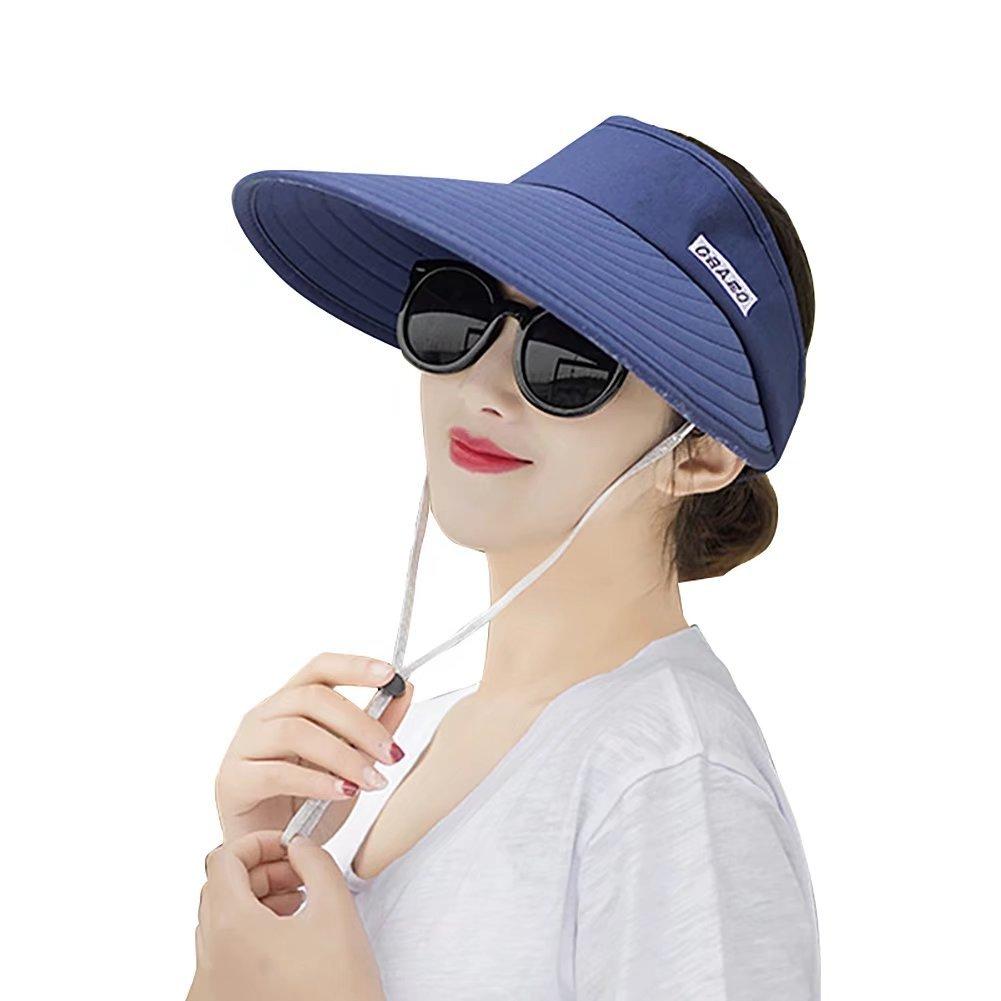 Women Sun Hats Wide Brim UV Protection Summer Beach Visor Cap Packable Visor Jhion