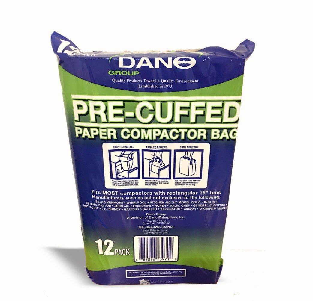 Paper Compactor Bags Pre-Cuffed (12 Pack)