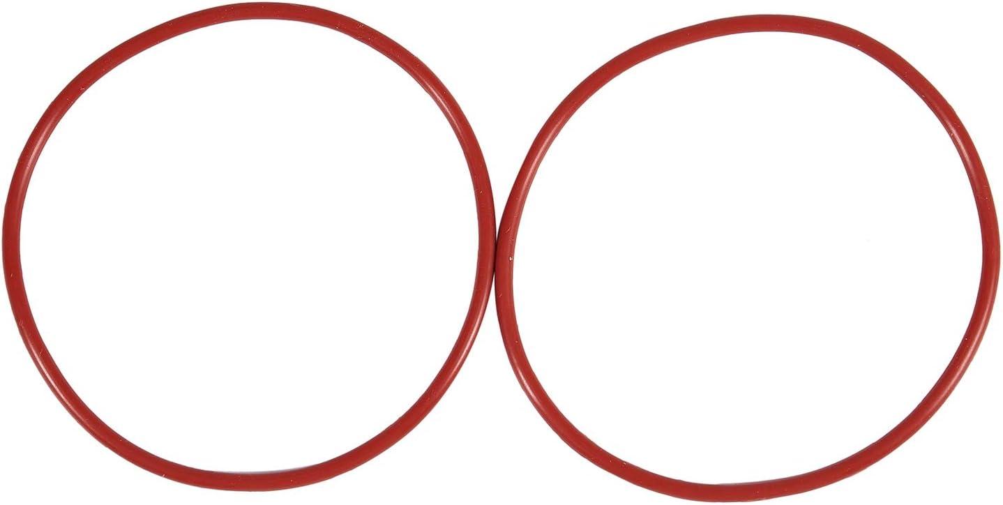 70 mm x 2,5 mm 10 arandelas de silicona para juntas t/óricas Andifany Rojo color rojo