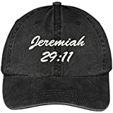 Bible Verse Jeremiah 29:11 Embroidered Pigment Dyed Cotton Baseball Cap