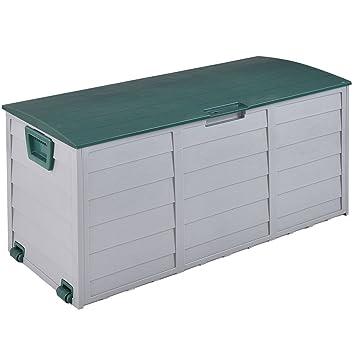 """44 """"Cubierta Caja de almacenaje al aire libre Patio garaje cobertizo herramienta banco contenedor"""