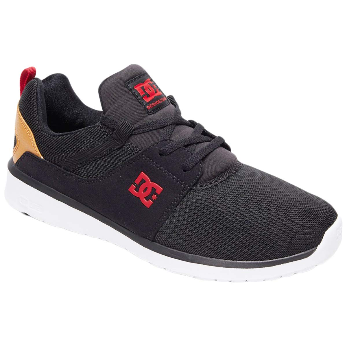 DC Shoes Mens Heathrow Mesh Black Camel Trainers 9.5 US