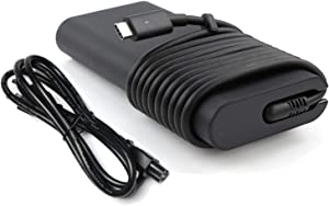 130W USB Type C AC Charger Fit for Dell XPS 15 2in1 9575 Precision 5530 2in1 5550 5750 3560 3550 3551 Latitude 7410 7310 7210 9410 9510 5420 5520 5320 5510 0K00F5 K00F5 Laptop Power Supply Cord