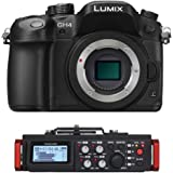 Panasonic Lumix DMC-GH4 Mirrorless Digital Camera - 4K Cinematic Video (Body Only) w/ Tascam Field Recorder kit