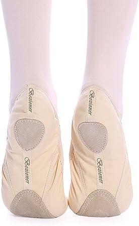 Chaussons de demi-pointe souples avec semelle divis/ée en cuir Chaussons de gymnastique//danse Pour fille//femme Veuillez s/électionner la taille sup/érieure