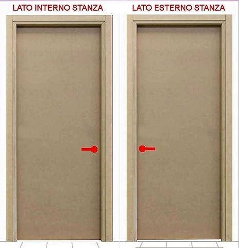 Porta in kit mod. LISCIA MDF | Versione battente | Legno MDF ...