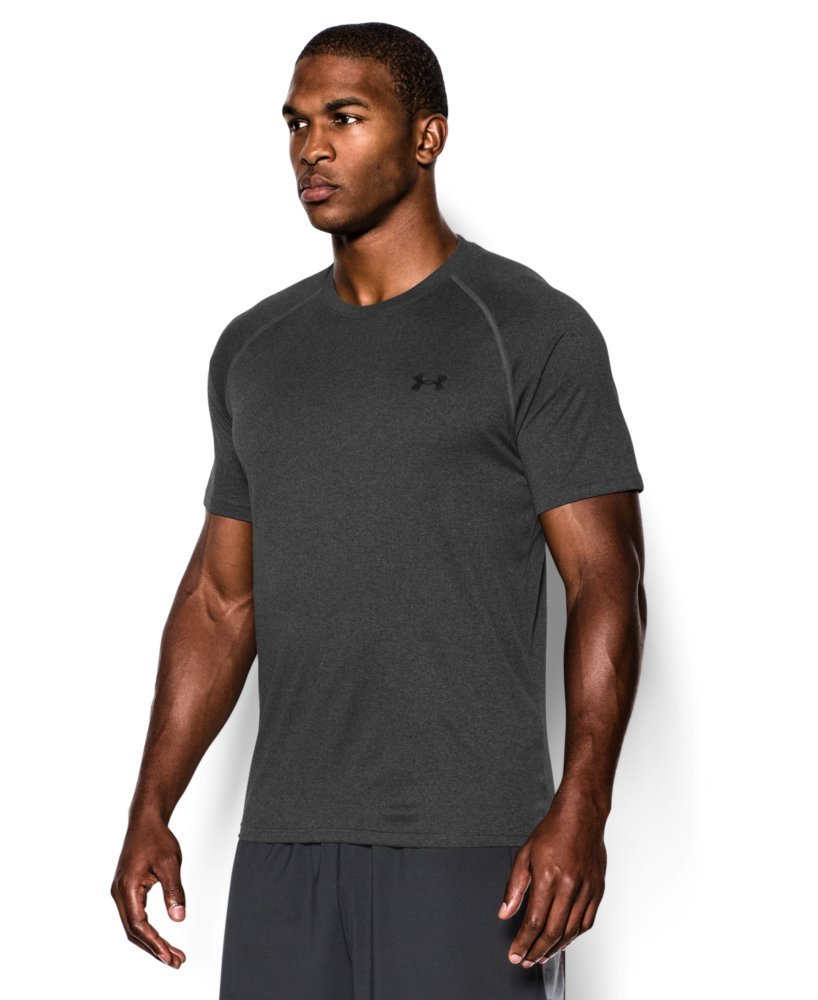 Under Armour Men's Tech Short Sleeve T-Shirt, Carbon Heather /Black, XXX-Large Tall by Under Armour (Image #3)