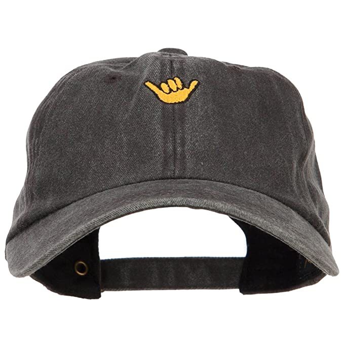 7c261a6a110f0 E4hats Mini Hang Loose Embroidered Unstructured Cap - Black OSFM at ...
