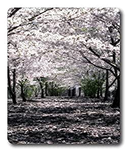 bulk mouse pads Cherry Blossom Forest PC Custom Mouse Pads / Mouse Mats Case Cover