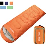 Sleeping Bag - 4 Seasons Warm Cold Weather Lightweight, Portable, Waterproof Sleeping Bag with Compression Sack for Adults & Kids - Indoor & Outdoor: Camping, Backpacking