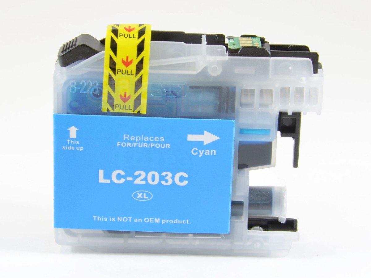 InkClubプレミアムlc203 C XLシリーズ互換シアンインクカートリッジ、交換で使用Brother mfc-j4320dw j4420dw j460dw j4620dw j480dw j485dw j5520dw j5620dw j5720dw j680dw j880dw j885dwプリンタ B06Y3CTVW5
